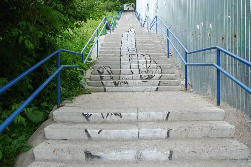 Арт-объект «Убийственная лестница»