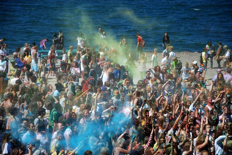 The festival of colors Holi