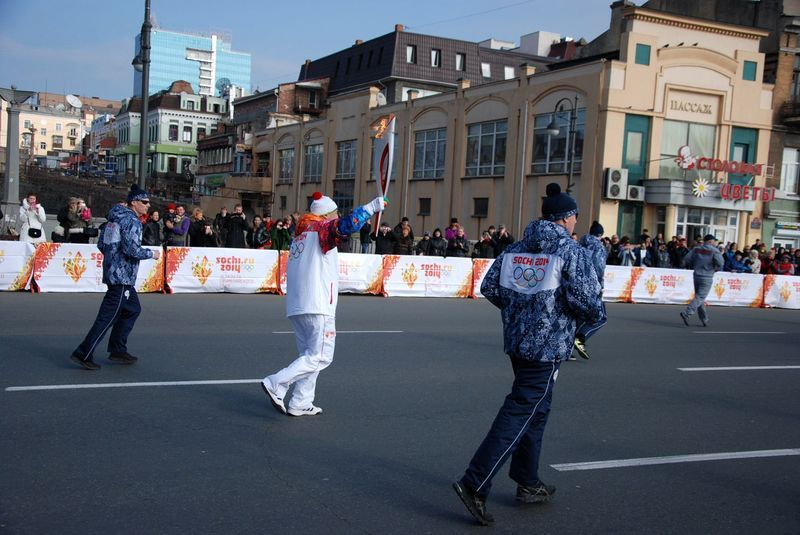 The Olympic Torch Relay Vladivostok