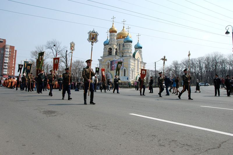 The procession Vladivostok