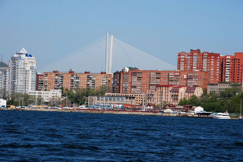 View from the sea Vladivostok