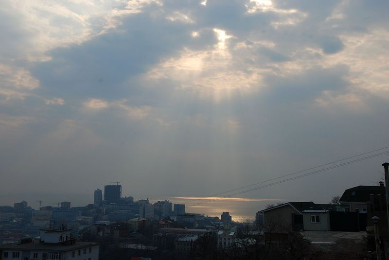 scenic terrace in Vladivostok