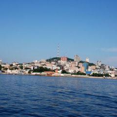 Вид с моря на Владивосток