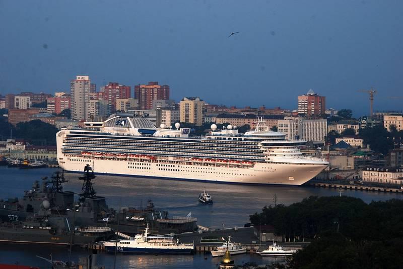 Круизное судно во Владивостоке