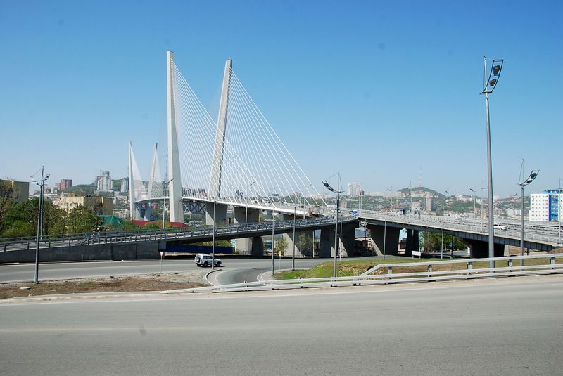 Golden horn bridge Vladivostok