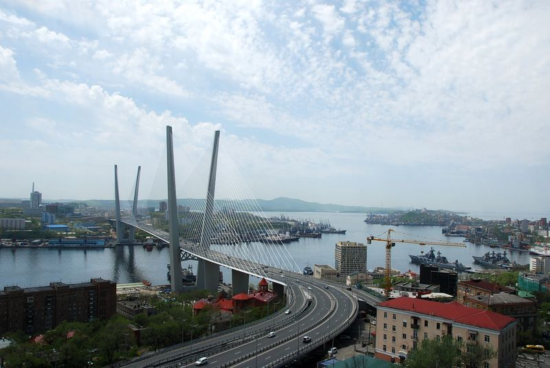 Observation deck in Vladivostok